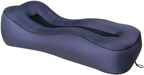HongTeng Portable Pliable portatif 190 × 80 × 50cm de Matelas extérieur d'air de Camping de canapé-lit Gonflable de canapé-lit (Couleur   bleu)
