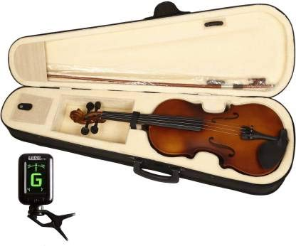 Kadence, Vivaldi 4/4 Violin With Bow, Rosin, Hard Case And Digital Tuner