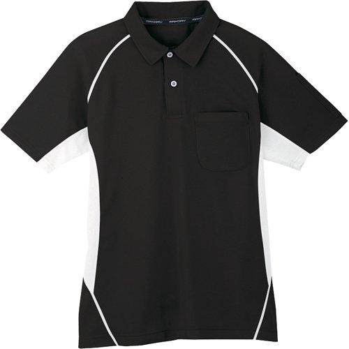 コーコス信岡 半袖ポロシャツ 13ブラック L MX70713L