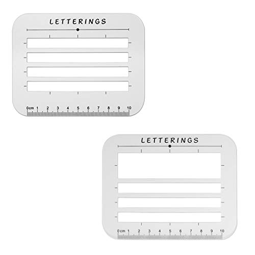 Calligraphy Stencil and Ruler Template- 2 Piece Address and Envelope Guide | Helps with Writing Straight Lines for Calligraphy, Wedding Invitations & Baby Shower Invitations
