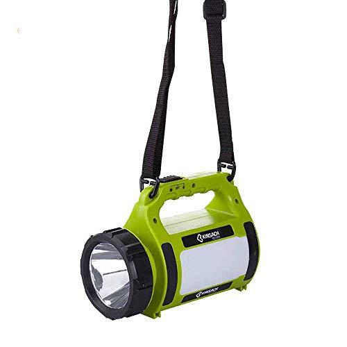 Faro LED portátil de búsqueda, recargable, resistente al agua, lámpara de trabajo para linterna de mano, 1000 lúmenes, 10 W, cable USB, recargable, extremadamente claro