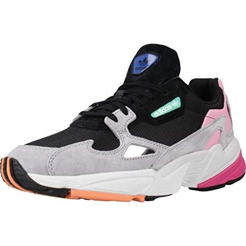 Adidas Falcon W, Zapatillas de Deporte Mujer, Negro (Negbás/Grasua 000), 37 1/3 EU