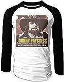 TTGHGH Camisas clásicas de manga larga con estampado de Johnny Paycheck de manga larga para hombre