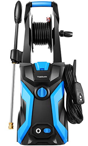 TOOLUCK 3800PSI Pressure Washer, Electric 2.8GPM Power Washer 1800W, High Pressure Cleaner Machine with 4 Nozzles, for Cleaning Patio, Garden, Fences, Vehicle, Cars (Blue)