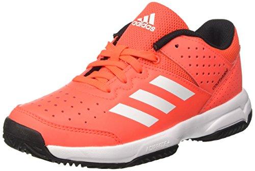 adidas Court Stabil Jr, Unisex-Kinder Handballschuhe, Rot (Solar Red/ftwr White/core Black), 36 EU (3.5 UK)