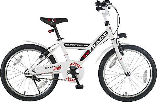 Orbis Bikes 20 Zoll BMX Kinder Jungen Fahrrad Rad Bike KINDERFAHRRAD JUGENDFAHRRAD Kinderrad Crazy Weiss TYT19-006