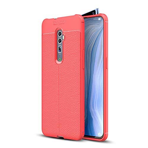 """HERCN Oppo Reno 10x Zoom 6.6"""" Custodia,Ultra Sottile Anti-graffio Antiscivolo Resistente Custodia Silicone Case Molle di TPU Case Cover per Oppo Reno 10x Zoom Smartphone (Rosso)"""