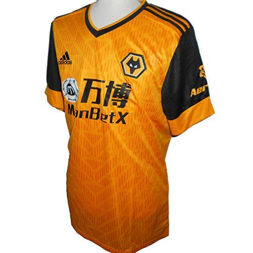 adidas 2020-2021 Wolves Home Football Camiseta de fútbol, Hombre, dorado, XXL