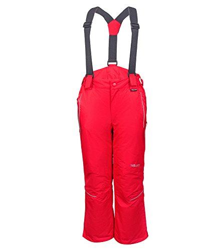 Trollkids Kinder wasserdichte Skihose/Schneehose Holmenkollen, Rot, Größe 128