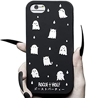 Rogue + Wolf Cute Ghost Party Phone Case for Girls Compatible with iPhone 6 6s 7 8 Cases Kawaii Spooky for Women (iPhone 6 / 6s / 7/8)