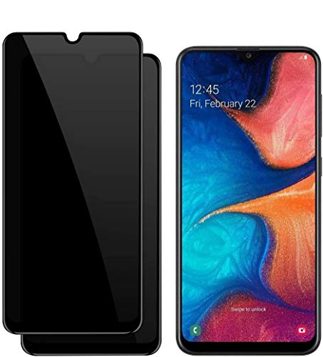 for Samsung Galaxy A50 A30 A20 M30 A30S A50S Privacy Tempered Glass Screen Protectors, 9H Hardness HD Anti-Scratch Anti-Fingerprint Anti-Spy Screen Protectors (2 Packs)