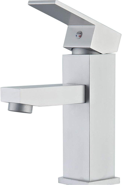 Faucet space aluminum basin faucet hot and cold bathroom bathroom basin heating and cooling above counter basin space aluminum, square faucet