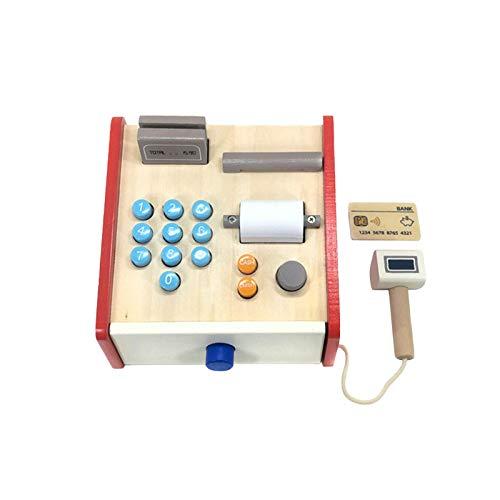 Oppal Simulazione in Legno Contanti per Bambini Che contano Denaro Play House ToySimulazione di Cassa in Legno registratore di Cassa, Bambini Che contano Denaro, Gioco da casa