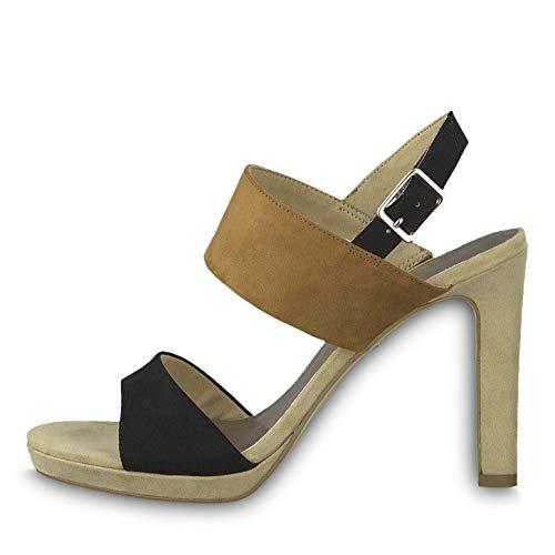Tamaris 1-28354-22 Damen Sandaletten Sandalen High Heel, Größe:35 EU, Farbe:Braun