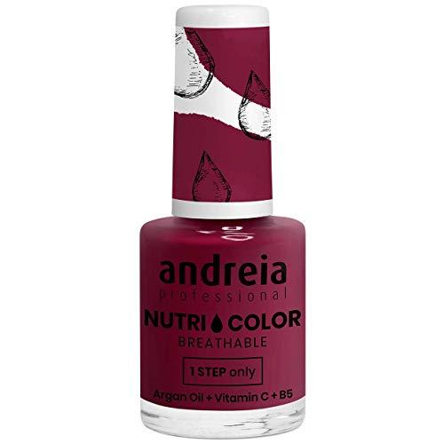 Andreia Professional NutriColor - Esmalte de uñas vegano transpirable - Color NC23 Pink Bordeaux - 10.5ml
