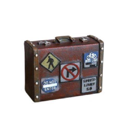 【Woliwowa】 オブジェ 貯金箱 ビンテージ風 レトロな トランクケース 旅行バッグ モチーフ (レンガ) [並行輸入品]