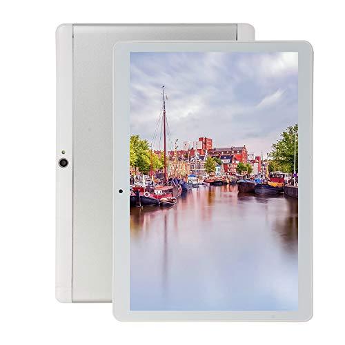 FJYDM Tableta 10.1 Pulgadas Procesador Portátil De Ocho Núcleos con Android Tableta De 1.5 GHz 2GB RAM + 32GB ROM - 4000Mah WiFi Bluetooth GPS Tablet,Blanco