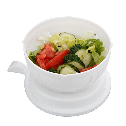 salad chopper bowl Maker Fruit Vegetable Bowl Cutter,Fast Fresh Salad Slicer Salad Chopper- Extra Big Bowl Super For Washing Containing (WHITE) By GAMING TS