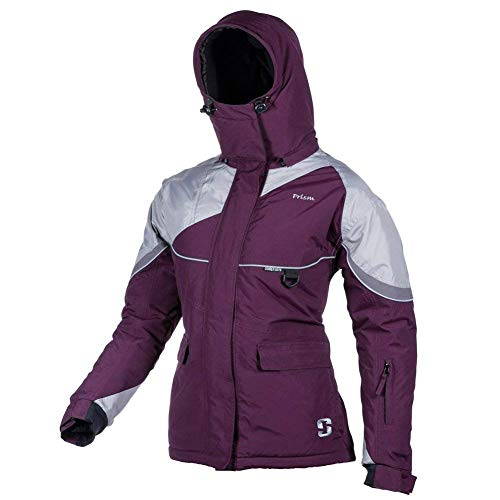 Striker Ice Women's Fishing Cold Weather Waterproof Prism Jacket, Marsala/Gray, Size 10