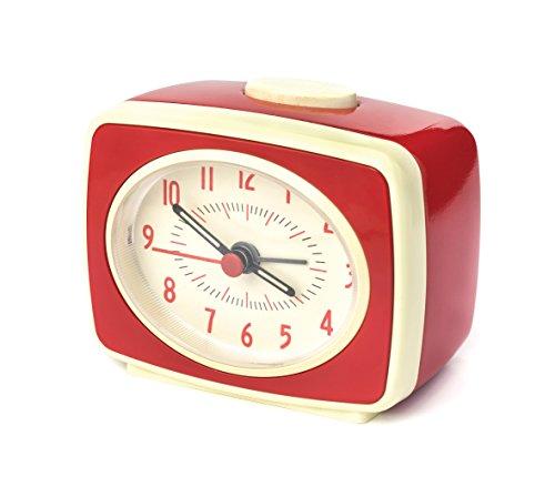 Kikkerland - Despertador (plástico, 9,8 x 6,1 x 8,3 cm), Color Rojo