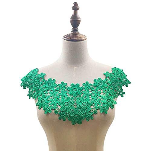Cuello falso de encaje hueco, escote bordado de tela de alta calidad para mujeres, vestidos Diy, cuello con apliques, collares de costura-2
