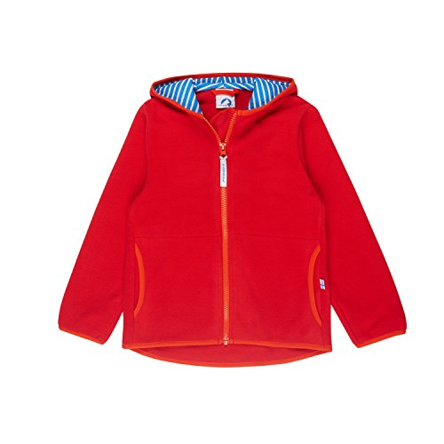 Finkid Paukku red grenadine Zip In Kinder Fleece Jacke