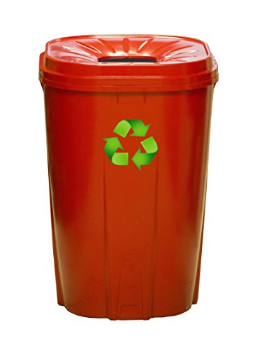 Best Review Of Enviro World Corporation 55 Gallon Recycling Bin Red
