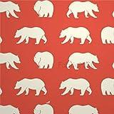 Bruyu5se Decorative Tile Stickers Set, Bear Camp - Bear Hike Coral 12 x 12 Inch Peel & Stick Vinyl Tiles Floor Decal, 12 Units Waterproof Vinyl Wall Tiles Sticker for Home Decor