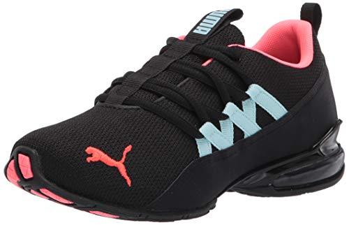 PUMA womens Riaze Prowl Running Shoe, Puma Black-ignite Pink-aquamarine, 8.5 US