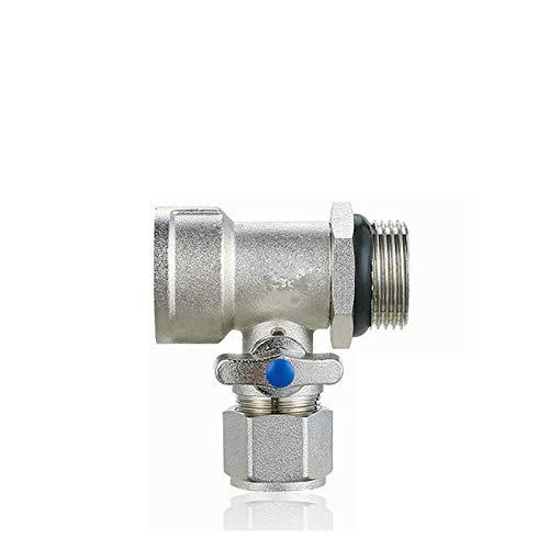 Válvula, Válvula Solenoide 1 '' DN25 * 1620 T de latón grifo de la válvula de bola Valor adaptador de la fuente de agua de rosca del termostato de control de la válvula del radiador izquierdo Hombre M