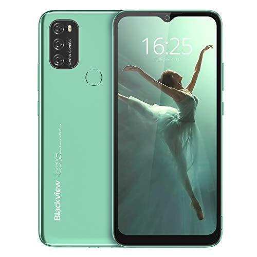 Android 11 Smartphone Libre, Blackview A70 Teléfono Móvil Octa-Core 3GB + 32GB Pantalla Waterdrop HD+ 6.517 '', Cámara Triple 13MP Movil Libre Barato Batería 5380mAh Dual SIM 4G Face ID/GPS- Green
