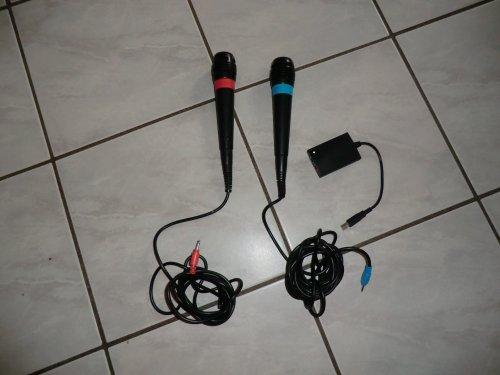 Original Sony Singstar Mikrofone im Doppelpack für PS2 / PS3 (bulk / Neuware)