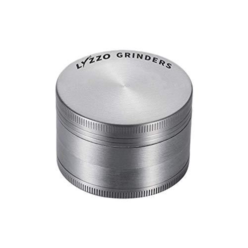 "LYZZO 4 Piece 2"" Spice Herb Grinder (Silver)"