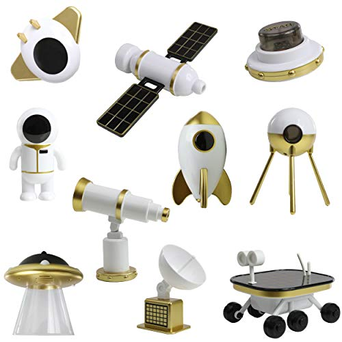 Top Right Toys Space Shuttle Astronaut Rocket Toys Spaceship Set, Rocket Ship Astro Solar Playset for Kids (10 Pieces)