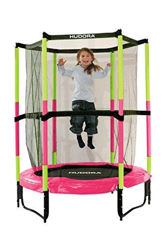 Hudora Jump In kindertrampoline, met veiligheidsnet, 140 cm