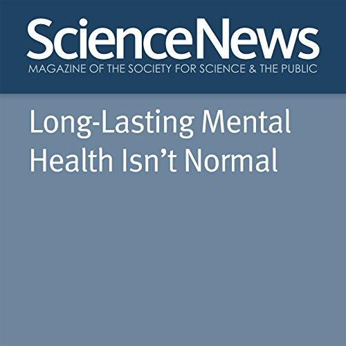 Long-Lasting Mental Health Isn't Normal audiobook cover art