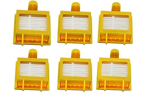 Green Label Lot de 6 Filtres de Rechange AeroVac pour iRobot Roomba Série 700 (Alternative à 21899)