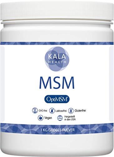 Kala Health OptiMSM 1000g Mehrstufige Destillation Methylsulfonylmethan grobes Pulver Coarse Flakes, Nahrungsergänzungsmittel organischer Schwefel für Gelenke, Haut, Haare & Nägel, Laborgetestet, KEINE ZUSATZSTOFFE, Hergestellt in den USA, 1 Zutat.