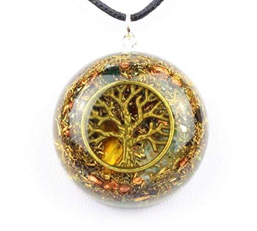 Panotophia Orpanit® Orgonit Amulett Weltenbaum Yggdrasil Baum des Lebens Messingfarbend