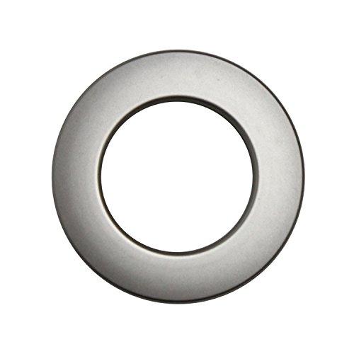 Stoffösen für 33mm Stoffloch - Hightech Kuststoff - Made in Germany - verschiedene Farben - Auch für dicke Stoffe geeignet - 10 Stück (edelstahl)