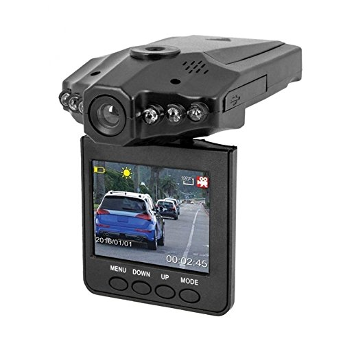 """Lambent Portable 2. 5"""" Full HD Car DVR Vehicle Camera Video Recorder Dash Cam IR Day and Night Vision with 6 LED"""