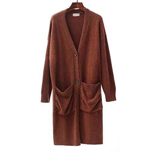 SATIWHYU Maternité Robe Grossesse Automne Et Hiver Robe De Maternité en Tricot Cardigan Manteau Long Pull Casual Wear