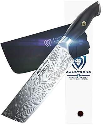 """DALSTRONG - 7"""" Nakiri Knife - Omega Series - American BD1N-VX - Hyper Steel - w/Sheath"""
