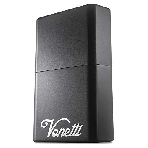 VONETTI Premium Keyless Go Schutz Aluminiumdose für Autoschlüssel/RFID Blocker Schutzhülle/Car Key Safe Box/Schlüsselbox/Schlüssel abschirmen (S, Schwarz)
