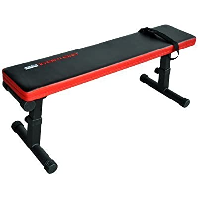 TrainHard Flat Weight-Bench Weight Bench Adjustable and Foldable Black / Red from Hansson.Sports