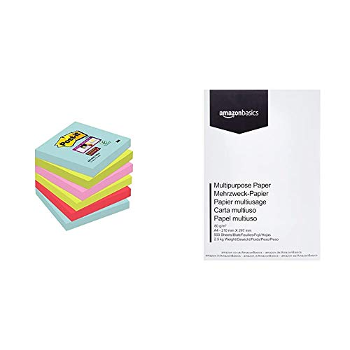 Post-It 70005291227 - Super Sticky - Pack de 6 blocs notas adhesivas colección