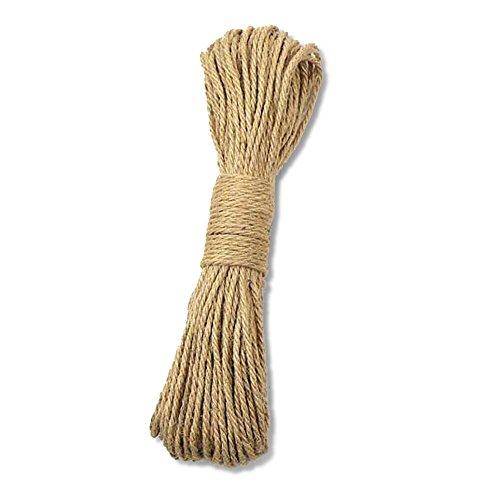 65ft DRAGON SONIC 8mm-20Meters Natural Hemp Rope Manual Dyeing Rope for DIY Decoration,Black