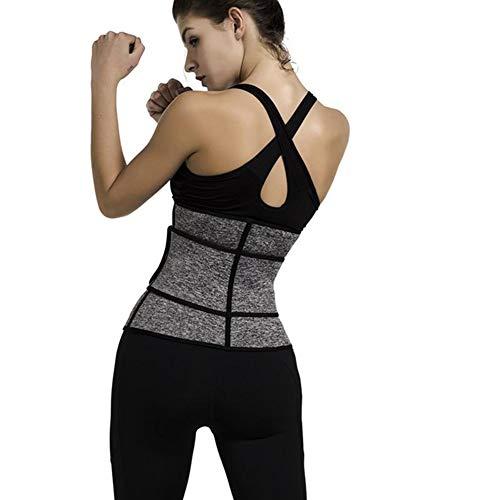 LSRRYD Cinturón de apoyo lumbar para entrenamiento de cintura, cinturón de apoyo lumbar, doble tirón, culturismo lumbar, cinturón de fitness para mujeres y deportes (color: gris, tamaño: S)