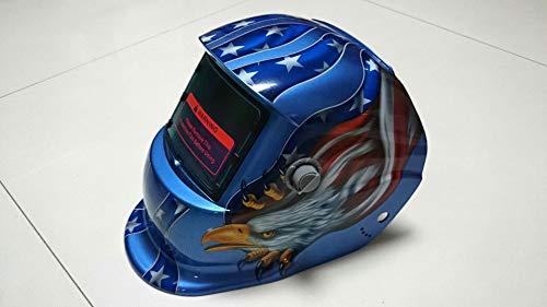 Best Cheap Auto Darkening Welding Helmet in Red & Silver Colorful Graphic Designs
