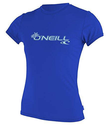 O'Neill Women's Basic Skins Upf 50+ Short Sleeve Sun Shirt, Tahitian Blue, Medium